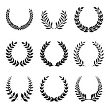 Vector Collection Of Laurels, ...