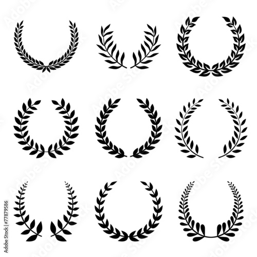 Photo  Vector Collection of Laurels, Floral Elements and Banners