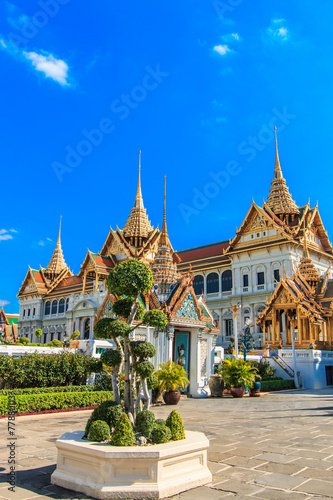 In de dag Bangkok Royal grand palace near Wat Phra Kaew in Bangkok of Thailand