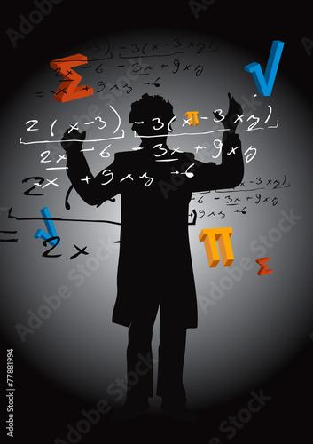 Math teacher Fototapeta