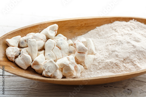 Tuinposter Baobab Baobab Fruit and powder, powerful superfood