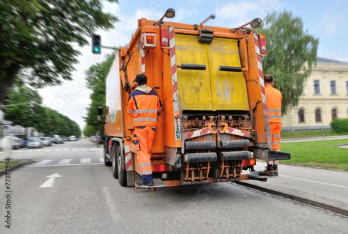 Fotografie, Obraz  Müllabfuhr