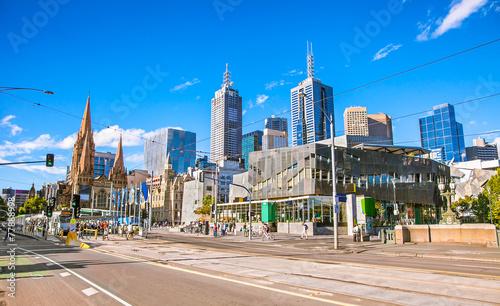 Federation Square in Melbourne, Australia.