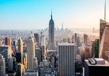 New York. Manhattan View. Top Of The Rock Sunset.