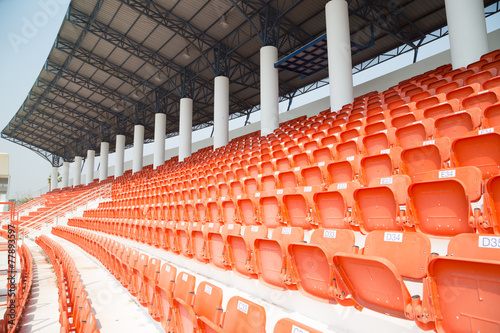 Papiers peints Stade de football amphitheater of orange seats