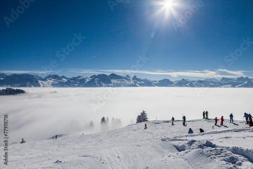 Ski resort Ibergeregg, Switzerland