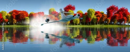 In de dag Bomen passenger plane