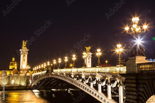 Photo  Bridge of the Alexandre III in Paris
