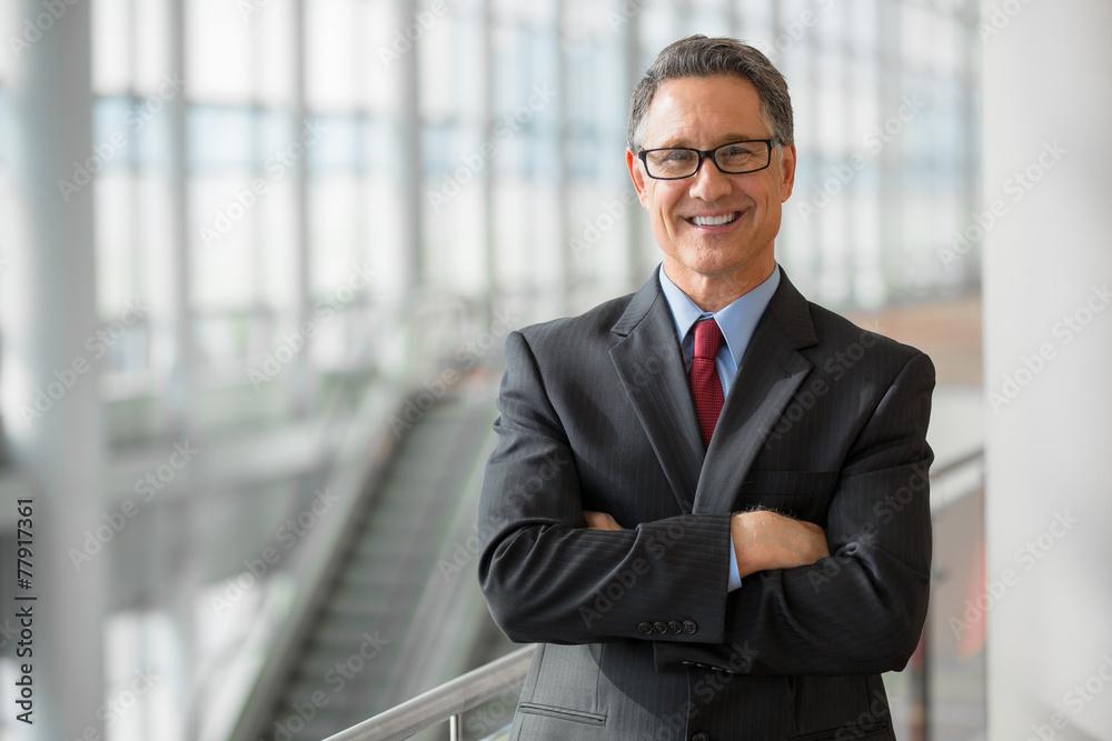 Fototapeta Portrait of a handsome CEO smiling
