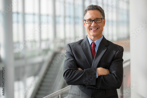 Fotografie, Obraz  Portrait of a handsome CEO smiling