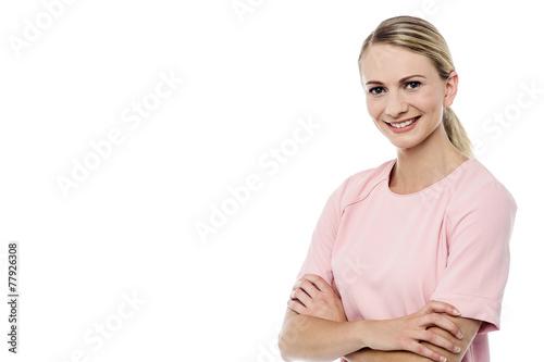Photo  Pretty woman posing casually