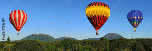 Tuinposter Ballon Montgolfières