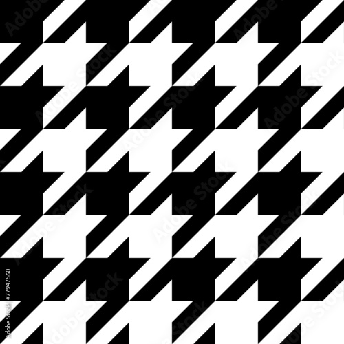 vector houndstooth seamless black and white pattern Poster Mural XXL