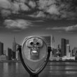 Manhattan New York sunny skyline East River NYC