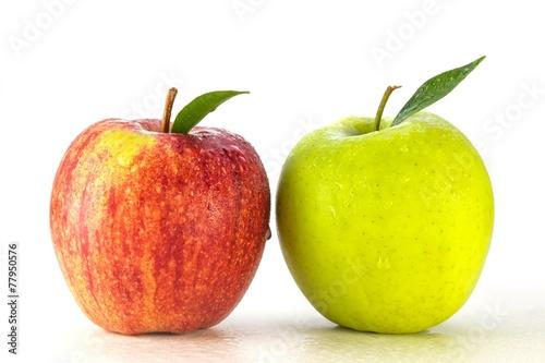 Staande foto Vruchten Äpfel - rot grün