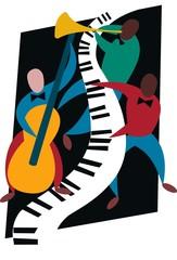 Fototapeta jazz trio