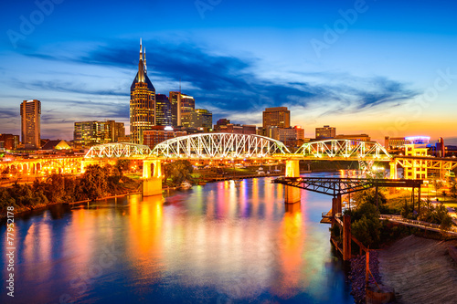 Nashville, Tennessee, USA Skyline Canvas Print