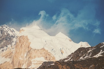 Fototapetainstagram filter Himalaya mountains