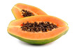canvas print picture - papaya fruit  isolated on white