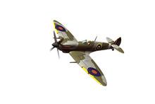 Supermarine Spitfire Isolated On White Background