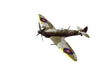 Supermarine Spitfire izoliran na bijeloj pozadini