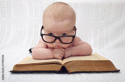 Photo  cute professor baby