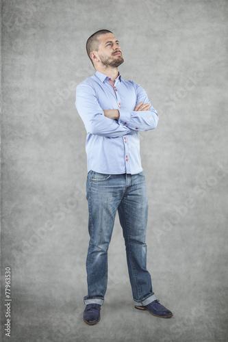 Fotografie, Obraz  proud businessman