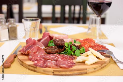 Fotografie, Obraz  Tagliere salumi e formaggi
