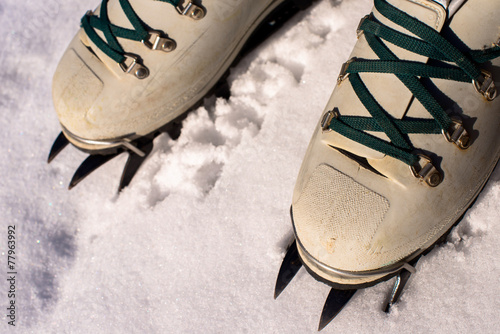 Foto op Plexiglas Alpinisme winter climb