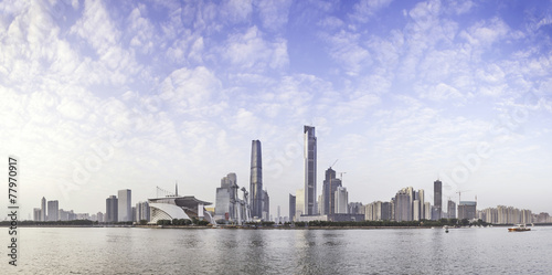 Poster Madrid skyline and cityscape of modern city Guangzhou