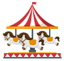 Vintage Merry-go-round Carouse...