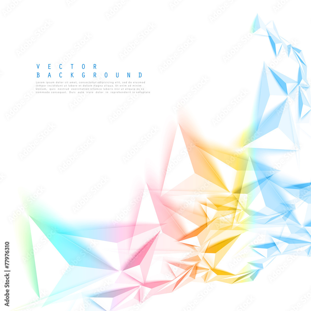 Photo & Art Print Vector color background abstract polygon