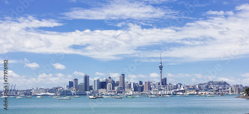 Photo Stands New Zealand Wide view of Auckland, New Zealand