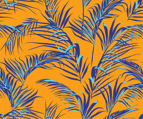 Obraz na Plexitropical palm leaves seamless pattern