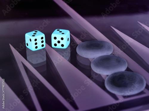 backgammon with dice Canvas-taulu