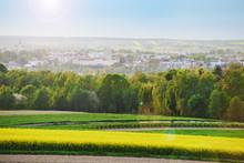 Wiosenna Panorama Miasta Krasnystaw Z Falrą