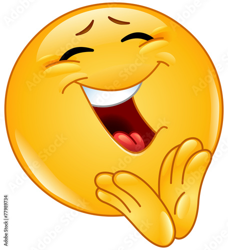 Fotografía  Clapping cheerful emoticon