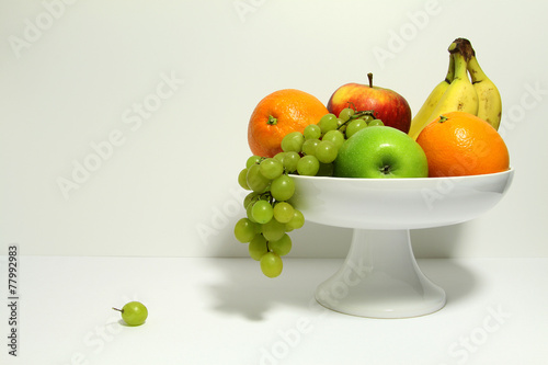 Aluminium Prints Grocery fruitschaal met fruit