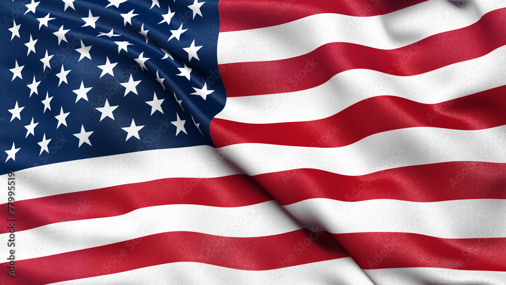 Fototapety, obrazy: Illustration of the USA national flag