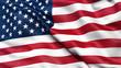 Leinwandbild Motiv Illustration of the USA national flag