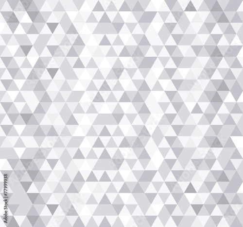 Fotografie, Obraz  White triangle tiles seamless pattern, vector background.