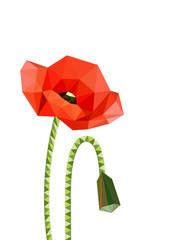 NaklejkaIllustration of origami poppies