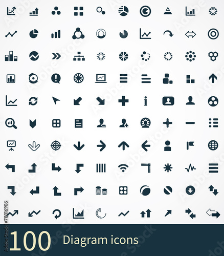 100 diagram icons set buy this stock vector and explore similar 100 diagram icons set ccuart Image collections
