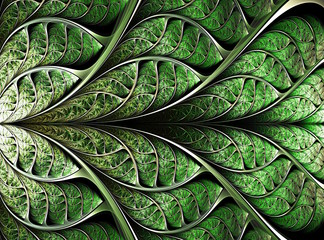 abstract plant background, fractal illustration