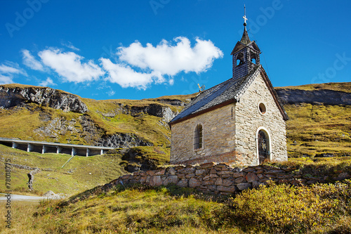 Aluminium Prints Mills Small chapel on Grossglockner Hochalpenstrasse