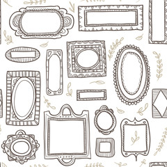 Seamless pattern of frames
