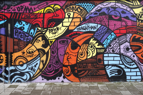 Foto  Street art - Graffiti wall