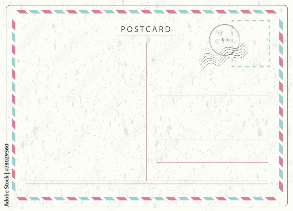 Fototapeta Travel Postcard Vector