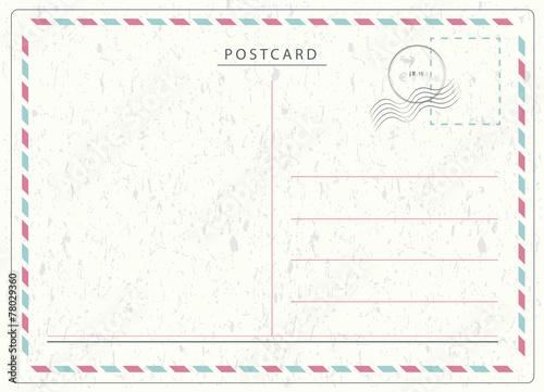 Fotografia  Travel Postcard Vector