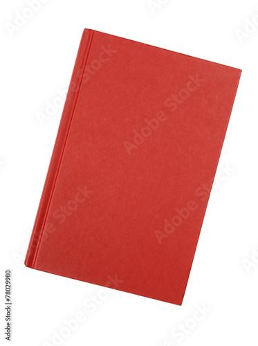 Fotografija Plain red hardback book